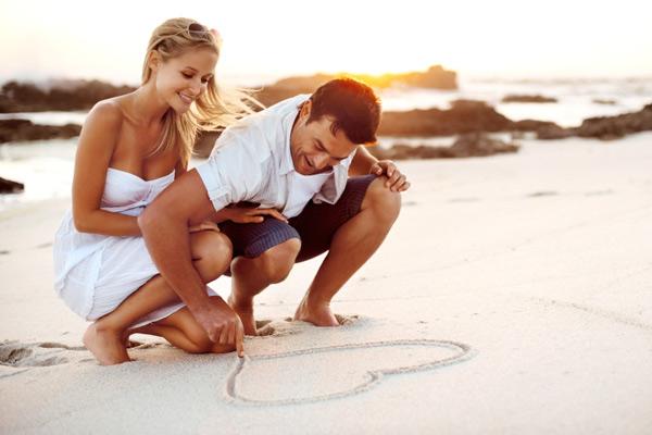 Casal em lua de mel