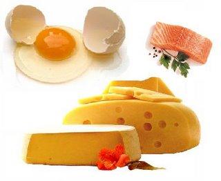 Foto de alimentos ricos em vitamina D